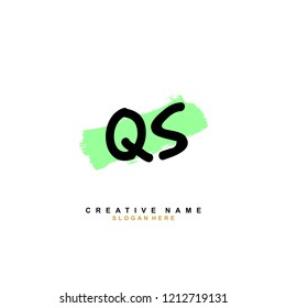 Q S QS Initial abstract logo concept vector