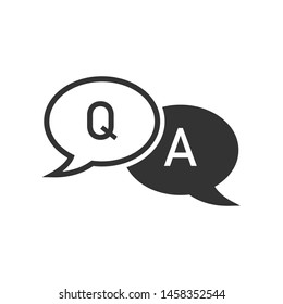 Q & A Sign - Question and Answer Icon. Illustration of Information Centre, Conversation or Confirm As  Simple Vector Sign & Trendy Symbol for Design and Websites, Presentation or Mobile Application.