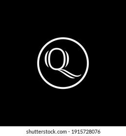 Q Unique abstract modern geometric vector  logo design