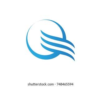 Q wave logos template