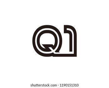 Q1 logo combination of letters and numbers