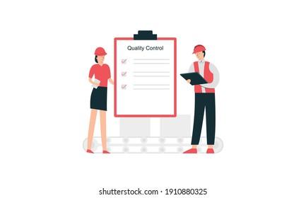 Qa engineers concept illustration. Quality control engineers illustration