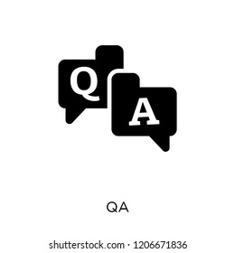 QA icon. QA symbol design from Online learning collection.