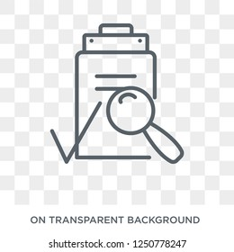 QA icon. Trendy flat vector QA icon on transparent background from E-learning and education collection. High quality filled QA symbol use for web and mobile