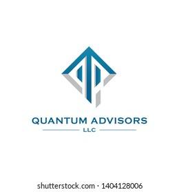 QA Initial Finance Firm Company Mature Logo Vector