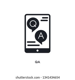 qa isolated icon. simple element illustration from e-learning and education concept icons. qa editable logo sign symbol design on white background. can be use for web and mobile