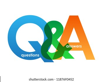 Q&A letters banner