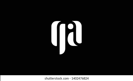 QA logo design template vector illustration minimal design