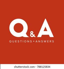 QA Logo. Vector Graphic Branding Letter Element. Red Background