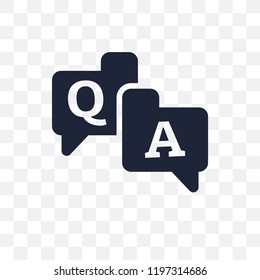 QA transparent icon. QA symbol design from Online learning collection.
