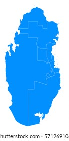 qatar blue map
