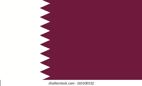 qatar  Flag for Independence Day and infographic Vector illustration.