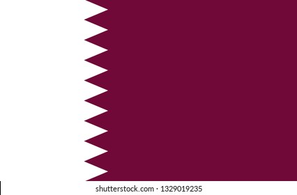 Qatar  flag. Simple vector Qatar  flag