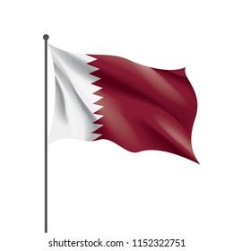 Qatar flag, vector illustration on a white background