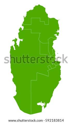 Qatar Green Map Stock Vector Royalty Free 592183814 Shutterstock
