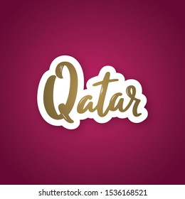 Qatar Name Images, Stock Photos & Vectors | Shutterstock
