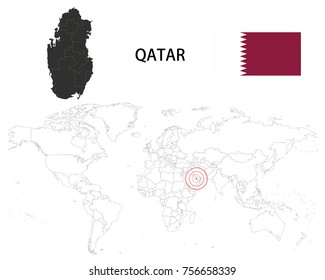 Qatar Map Images Stock Photos Vectors Shutterstock