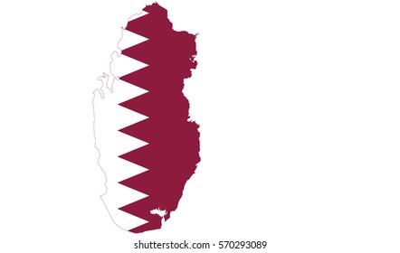 Qatar Map Images, Stock Photos & Vectors | Shutterstock