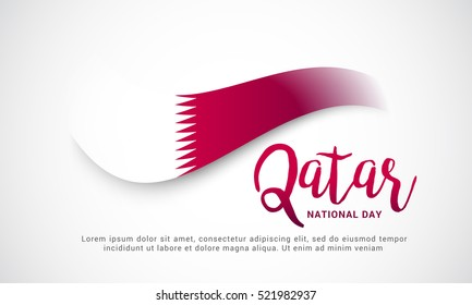 Qatar National Day background.Qatar National Day poster or banner.