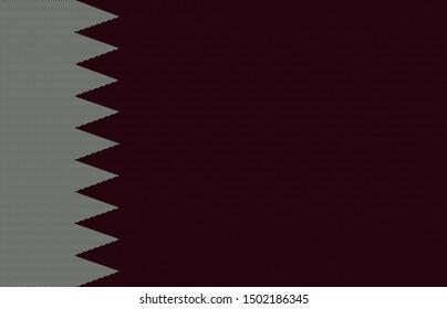 qatar original flag on background