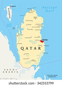 Qatar Map Images, Stock Photos & Vectors | Shutterstock on
