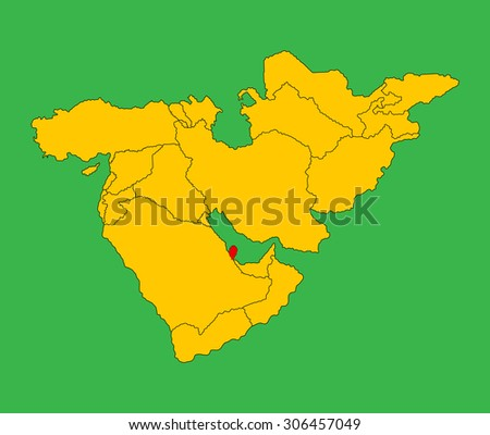 Qatar Vector Map Silhouette Illustration Isolated Stock Vector ... on