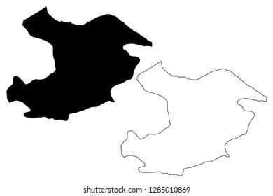 Qazvin Province (Provinces of Iran, Islamic Republic of Iran, Persia) map vector illustration, scribble sketch Qazvin map