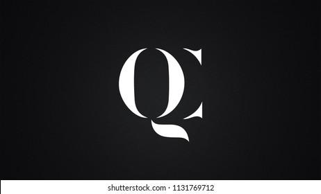 QC Letter Logo Design Template Vector