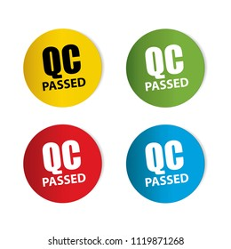 QC passed Realistic,Sticker and Tag set-vector illustration
