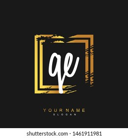 QE Initial beauty floral logo template