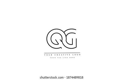 QG GQ Q G abstract vector logo monogram template