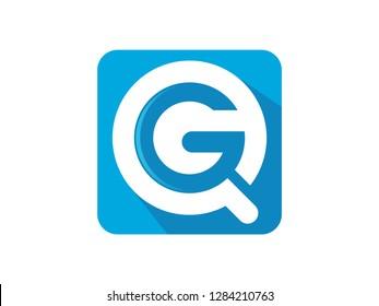 QG initials Logo template