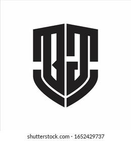 QG Logo monogram with emblem shield shape design isolated on white background