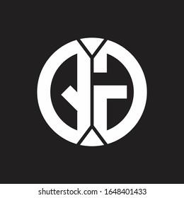 QG Logo monogram with piece circle ribbon style