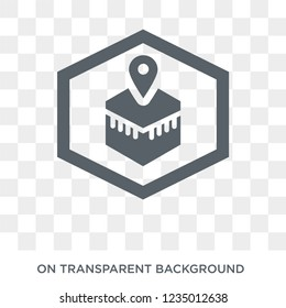 Qibla icon. Trendy flat vector Qibla icon on transparent background from Religion  collection.