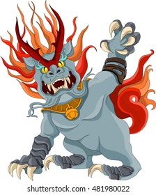 Qilin. Chinese mythical creature.
