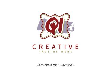 QL Initials, handwriting logo vector