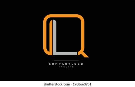 QL initials monogram letter text alphabet logo design