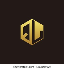 QL Logo Monogram with Negative space gold colors
