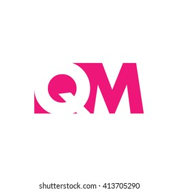QM Logo. Vector Graphic Branding Letter Element. White Background