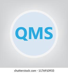 QMS (Quality management system) acronym- vector illustration