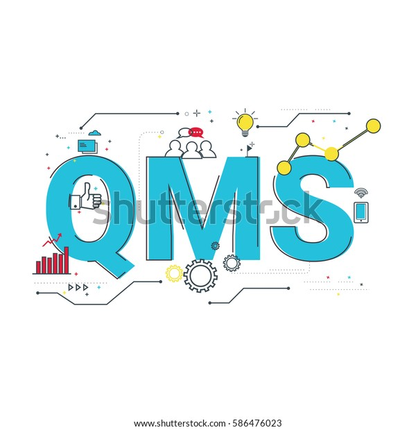 Qms Quality Management System Word Design Stock Vector (Royalty Free
