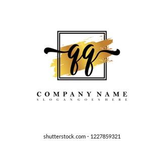 QQ Initial handwriting logo concept