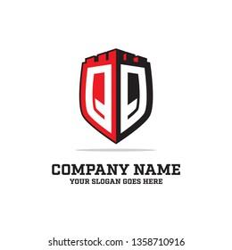 QQ initial logo name,QQ LOGO  clean and strong brand vector