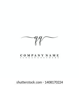 QQ Initial luxury handwriting logo vector
