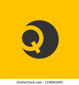 QQ letter logo . Q logo .