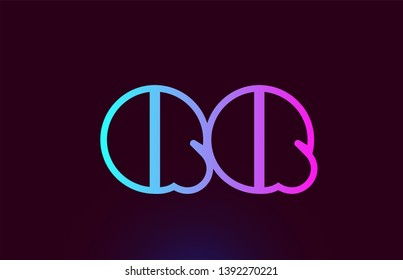 QQ Q Q pink line joined alphabet letter combination suitable as a logo icon design for a company or business