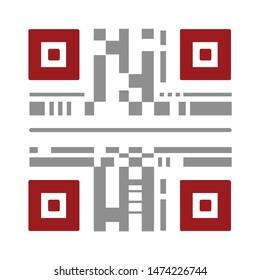 qr code icon. flat illustration of qr code vector icon. qr code sign symbol