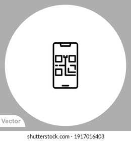 Qr code icon sign vector,Symbol, logo illustration for web and mobile