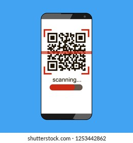 Qr Code icon for smart phone. Vector stock illustration